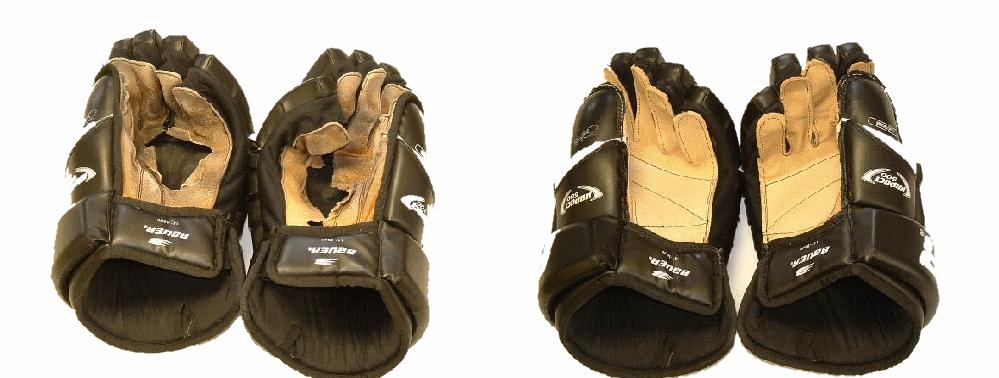 Výměna dlaně hokejové rukavice