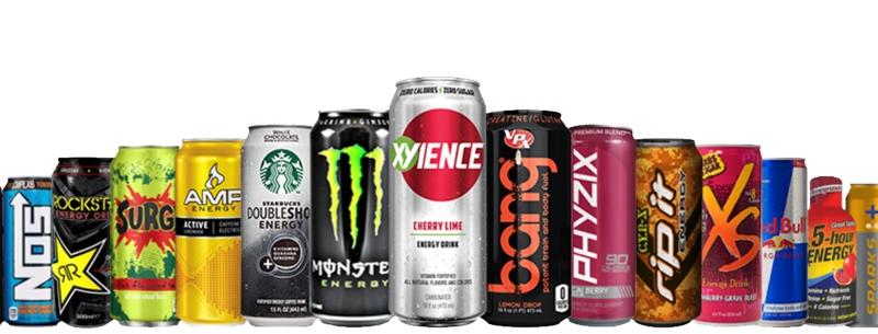 Energy drinky pro zvýšení výkonu