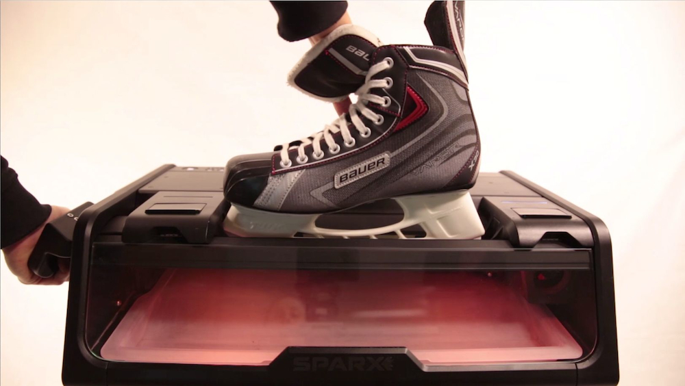 Domácí bruska na hokejové brusle