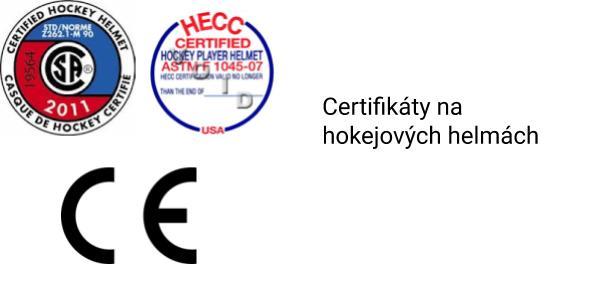Co značí CE a HEEC certifikáty na hokejových helmách