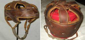 historické hokejové helmy